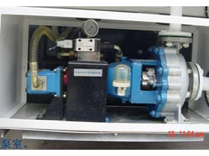 The imported hydraulic valve unit controls the motor to make the stainless steel centrifugal pump work